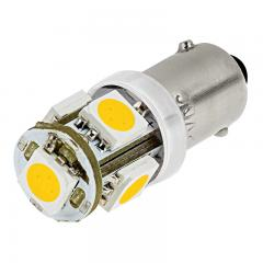 BA9s LED Bulb - 5 SMD LED Tower - BA9s Bulb - Warm White