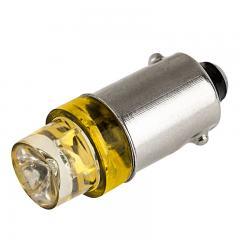 BA9s LED Bulb - 1 LED - BA9s Bulb - Amber 120 Degree 12V