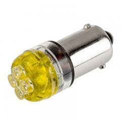 BA9s LED Landscape Light Bulb - 4 LED - BA9s Retrofit - Amber 90 Degree 12VAC