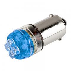 BA9s LED Landscape Light Bulb - 4 LED - BA9s Retrofit - Blue 90 Degree 12V
