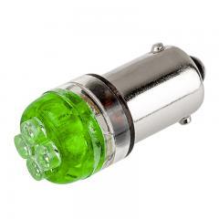 BA9s LED Landscape Light Bulb - 4 LED - BA9s Retrofit - Green 90 Degree 12V