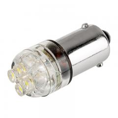 BA9s LED Boat and RV Light Bulb - 4 LED - BA9s Retrofit - Cool White 90 Degree 12V