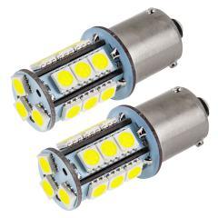 7507 (PY21W) LED Bulb - 18 SMD LED Tower - BAU15S Bulb