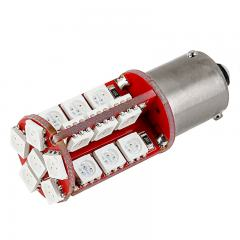 7507 (PY21W) CAN Bus LED Bulb - 30 SMD LED Tower - BAU15S Bulb - Red