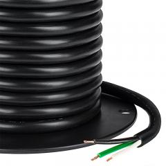 SJT Cable - Black Jacketed 18 Gauge Three Conductor Power Wire