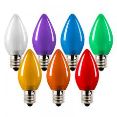 C7 LED Bulbs - Ceramic Style Replacement Christmas Light Bulbs - 4 Lumens
