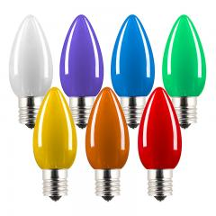 C9 LED Bulbs - Ceramic Style Replacement Christmas Light Bulbs - 6 Lumens