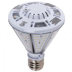 40W LED Post Top / Corn Bulb - 4,800 Lumens - 150W Equivalent MH - Reversible E39 Mogul Base -  4000K/3000K