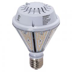 80W LED Post Top / Corn Bulb - 9,600 Lumens - 400W Equivalent MH - Reversible E39 Mogul Base - 4000K/3000K
