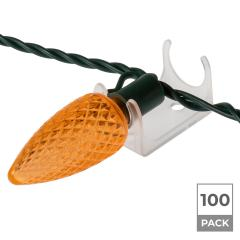 100 Pack - Combo C-Clips for Christmas Lights