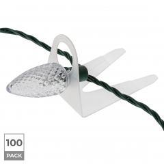 100 Pack - Shingle Tabs for Christmas Lights