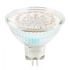 Color-Changing MR16 LED Landscape Light Bulb - 30 LED Spotlight Bi-Pin Bulb