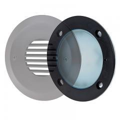 LED Step Lights - Round Deck / Step Accent Light w/ Etched Lens - 12V or 120V - 95 Lumens