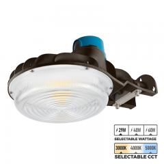 Selectable CCT and Wattage LED Dusk to Dawn Area Light - Brown - Photocell Included - 3900-8400 Lumens