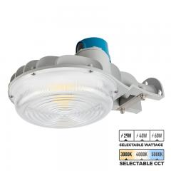 Selectable CCT and Wattage LED Dusk to Dawn Area Light - Gray - Photocell Included - 3900-8400 Lumens