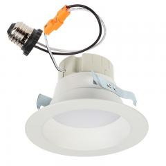 "LED Recessed Lighting Kit for 4"" Cans - Retrofit LED Downlight w/ Open Trim - Dimmable - 1350 Lumens"