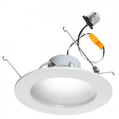 "LED Recessed Lighting Kit for 5"" to 6"" Cans - Retrofit LED Downlight w/ Indirect Trim - 75 Watt Equivalent - Dimmable - 900 Lumens"