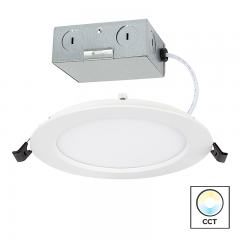 "6"" LED Recessed Downlight - Remote Junction Box - Selectable Color Temperature - 75 Watt Equivalent - Dimmable - 900 Lumens"
