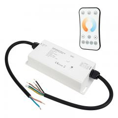 Waterproof 4 Channel Receiver with Tunable White RF Remote - 5 Amps/Channel