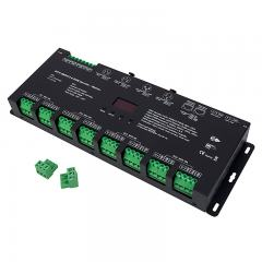 24 Channel LED DMX512 and RDM Decoder / Master - 3A/CH - 12-24V - OLED Display