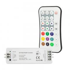 Digital RGB LED Controller with RF Wireless Remote - SPI Controller - 5-24 VDC