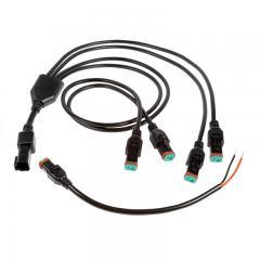 Deutsch DT Connector 4-Way Splitter Cable - DT Pigtail Connector Male