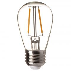 S14 LED Vintage Light Bulb with Filament LED - 11W Equivalent - 110 Lumens - 2200K/2700K