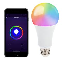 10W A19 WiFi Smart LED Light Bulb - RGBW Color Changing - Hubless - Alexa/Google Assistant/Smartphone Compatible - 60W Equivalent - 800 Lumens