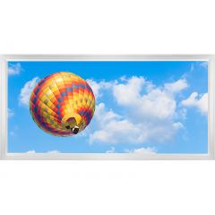 LED Skylight w/ Balloon 4 Skylens® - 2x4 Dimmable LED Panel Light - Surface Mount/Drop Ceiling