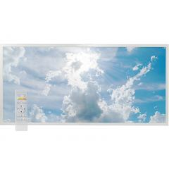 Tunable White LED Skylight w/ Sun Beams Skylens® Diffuser - 2x4 Dimmable LED Panel Light - Drop Ceiling