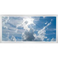 LED Skylight w/ Sun Beams Skylens® - 2x4 Dimmable LED Panel Light - Flush Mount/Drop Ceiling