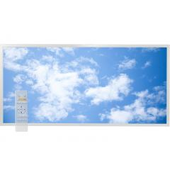 Tunable White LED Skylight w/ Lazy Day Skylens® Diffuser - 2x4 Dimmable LED Panel Light - Drop Ceili