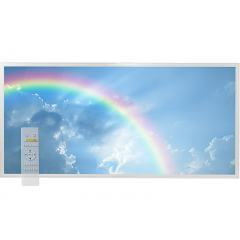 Tunable White LED Skylight w/ Rainbow Skylens® Diffuser - 2x4 Dimmable LED Panel Light - Drop Ceiling