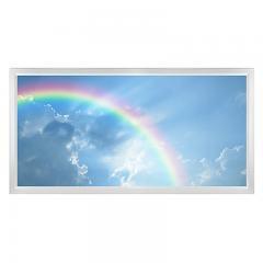 LED Skylight w/ Rainbow Skylens® - 2x4 Dimmable LED Panel Light - Flush Mount/Drop Ceiling