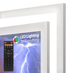 Tunable White LED Light Box Panel w/ Custom-Printed LUXART® Diffuser and Optional Remote - Ultra Thin - Dimmable