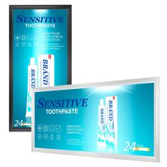 Ultra Thin LED Light Box Panels with Custom Printed Luxart® Diffuser - Aluminum Frame - Dimmable