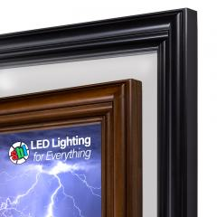Ultra-Thin LED Light Box Panels w/ Custom-Printed LUXART® Diffuser and Wood Frame - Dimmable