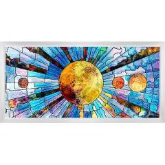 LED Skylight w/ Glass Planets Skylens® - 2x4 Dimmable LED Panel Light - Surface Mount/Drop Ceiling