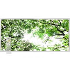 Tunable White LED Skylight w/ Forest Boughs Skylens® Diffuser - 2x4 Dimmable LED Panel Light - Drop Ceiling