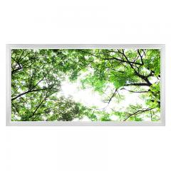 LED Skylight w/ Forest Boughs Skylens® - 2x4 Dimmable LED Panel Light - Flush Mount/Drop Ceiling