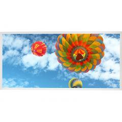 LED Skylight w/ Ballon 3 Skylens® - 2x4 Dimmable LED Panel Light - Drop Ceiling