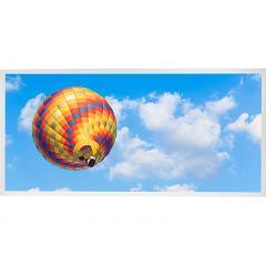 LED Skylight w/ Ballon 4 Skylens® - 2x4 Dimmable LED Panel Light - Drop Ceiling