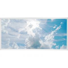 LED Skylight w/ Sun Beams Skylens® - 2x4 Dimmable LED Panel Light - Drop Ceiling
