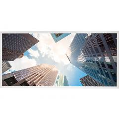 LED Skylight w/ Downtown Skylens® - 2x4 Dimmable LED Panel Light - Drop Ceiling