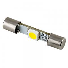 6612F Vehicle Vanity LED Light Bulb - (1) SMD LED Fuse Lamp - 3022 Base - 30mm