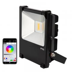 20W Color-Changing Wi-Fi LED Flood Light - RGB+White - Smartphone Compatible or w/ Optional Remote