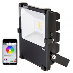 50W Color-Changing Wi-Fi LED Flood Light - RGB+White - Smartphone Compatible or w/ Optional Remote