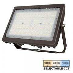90W LED Flood Light - Selectable Color Temperature - 3000K/4000K/5000K - 12400 Lumens -  400W MH Equivalent