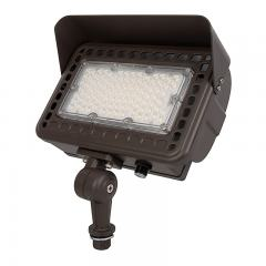 50W LED Flag Light with Photocell - 30° Beam - Landscape Spotlight - 5000K