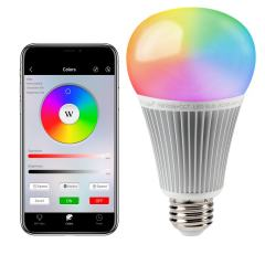 9W A19 MiLight WiFi Smart LED Light Bulb - RGB+Tunable White - Smartphone Compatible - 60W Equivalent - 850 Lumens
